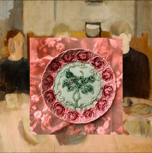 Load image into Gallery viewer, portuguese rose plate