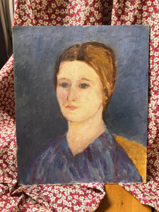 midcentury portrait of a lady