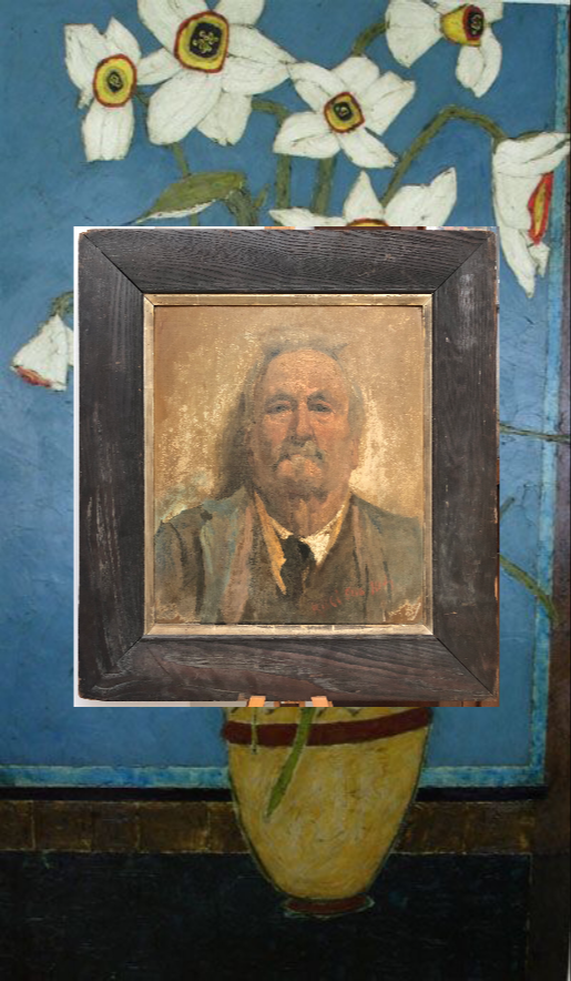 oil portrait of a man