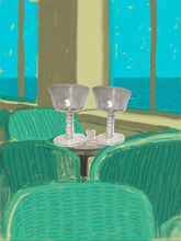 Load image into Gallery viewer, '70s bobbin champagne coupes