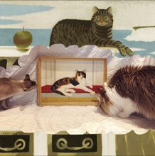 Load image into Gallery viewer, fedden cat oil painting on board