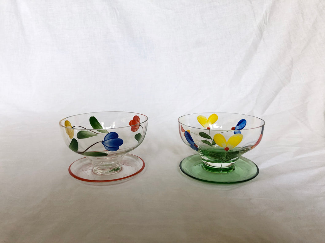 '60s hand-painted lowball cocktail glasses