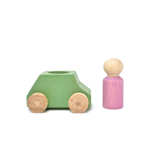Lubulona Mint Car with Pink Figure