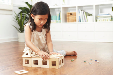 Big Future Toys Earthtiles - Wooden Magnetic Tiles