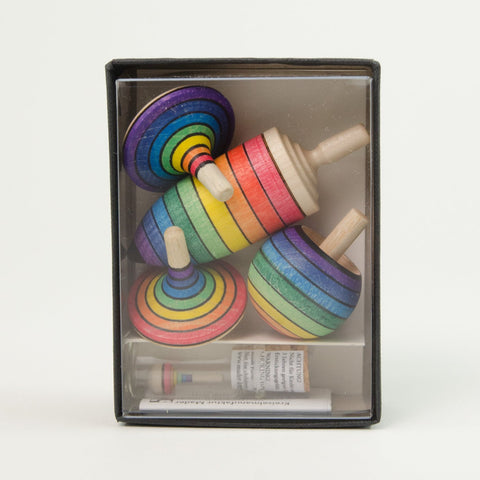 Mader Learning Set of Rainbow Spinning Tops