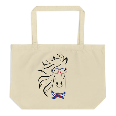 Horse Large Organic Tote Bag
