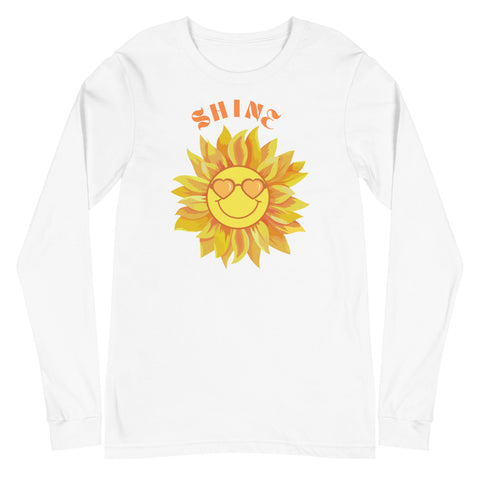 Sun Shine Positivity Unisex Long Sleeve Tee