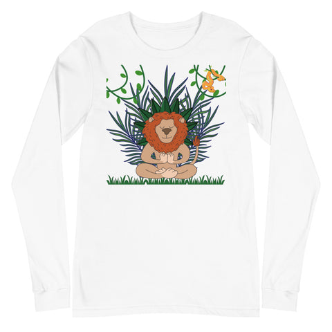 Meditation Lion Unisex Long Sleeve Tee