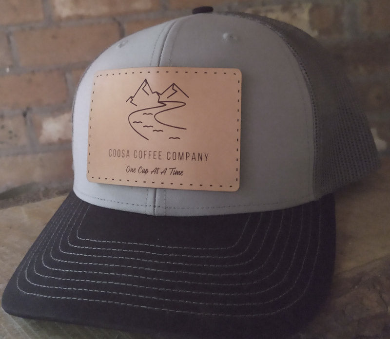 Coosa Coffee Trucker Hat - Grey/Charcoal/Black