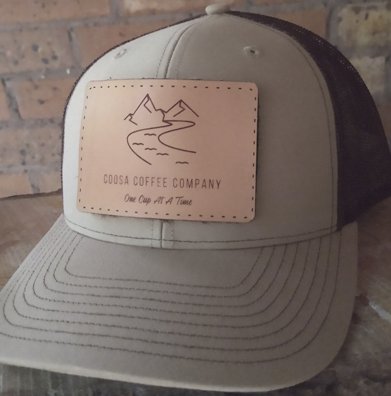 Coosa Coffee Trucker Hat - Khaki/Coffee