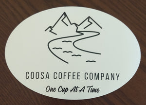 Oval Sticker - Coosa Coffee Co Logo