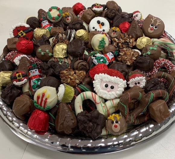 Christmas Candy and Pretzel Tray