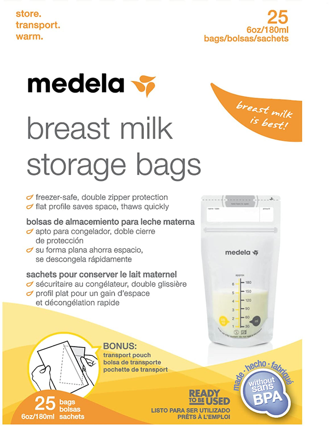 Breast Milk Storage Bags (100 bags)