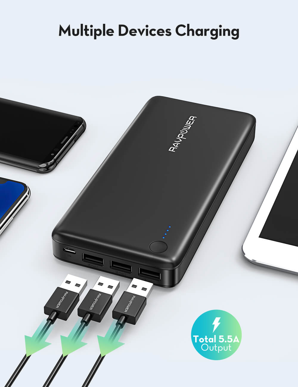 26800mAh 5.5A 3-Port Power Bank
