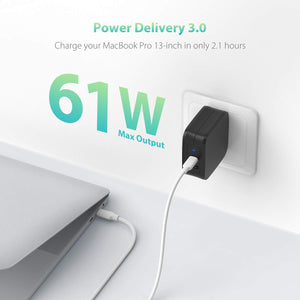 PD Pioneer 61W 2-Port USB C Wall Charger