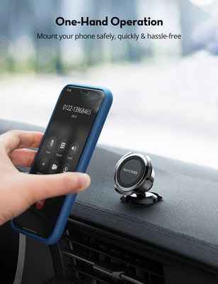 3M Adhesive Magnetic Car Phone Holder 360° Rotatable