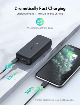 PD/QC 10000mAh Power Bank 20W USB C Portable Charger for iPhone12-RAVPower