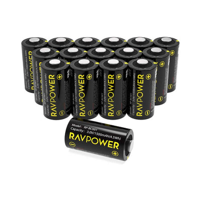 RAVPower CR123A 3V Lithium Battery