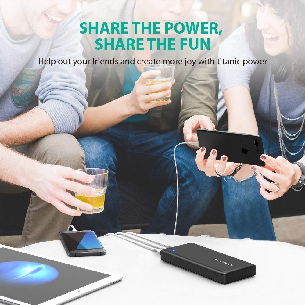 26800mAh Power Bank with 2A Wall Charger