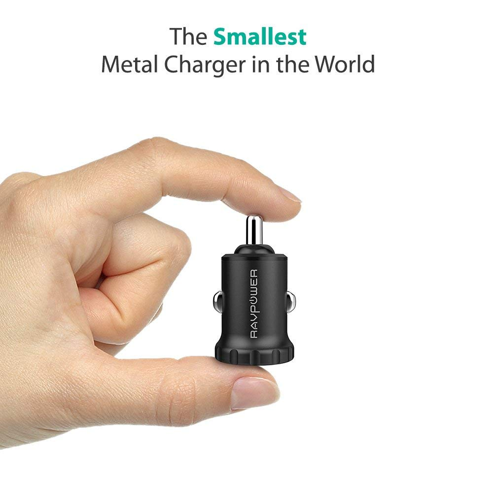 24W 4.8A Mini Dual USB Car Adapter 2-Port Car Charger