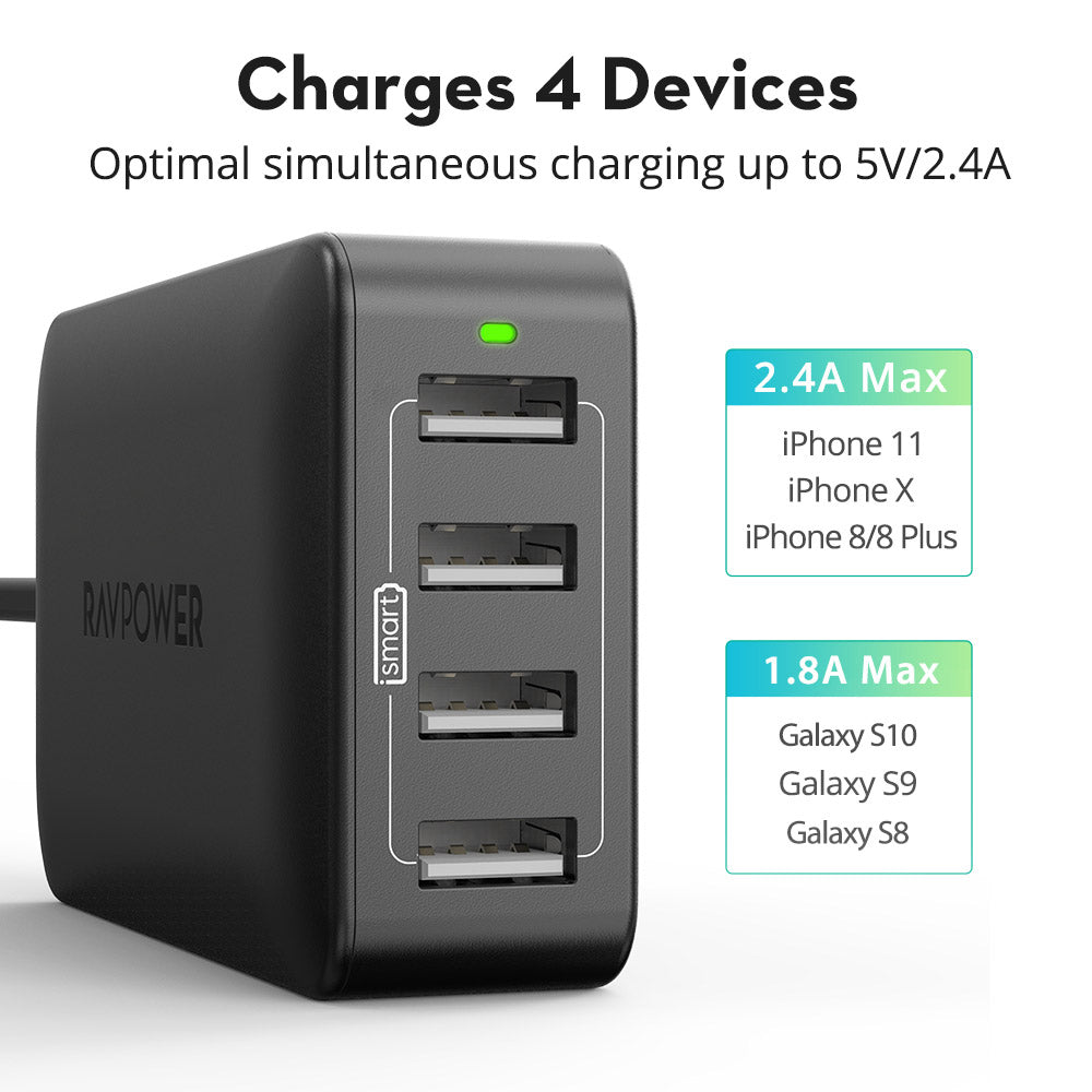 40W 8A 4-Port Desktop Charger-RAVPower