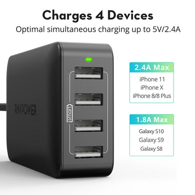 Prime 40W 8A 4-Port Desktop Charger