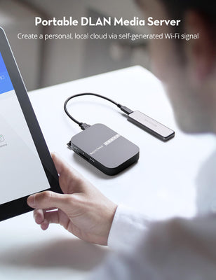 FileHub New Version AC750 Wireless Travel Router