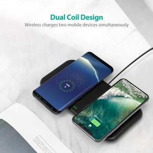 10W Dual Coils Wireless Charger