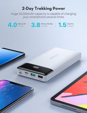 iPhone12 PD Pioneer 20000mAh 18W Portable Charger 3-Port Power Bank-RAVPower