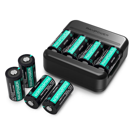 CR123A Rechargeable Battery With a USB Cable-RAVPower