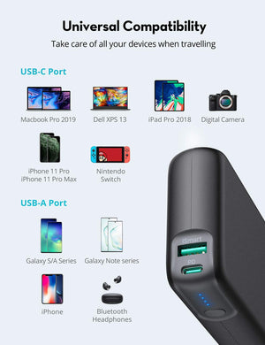 PD Pioneer 20000mAh 60W Portable Charger 2-Port Power Bank