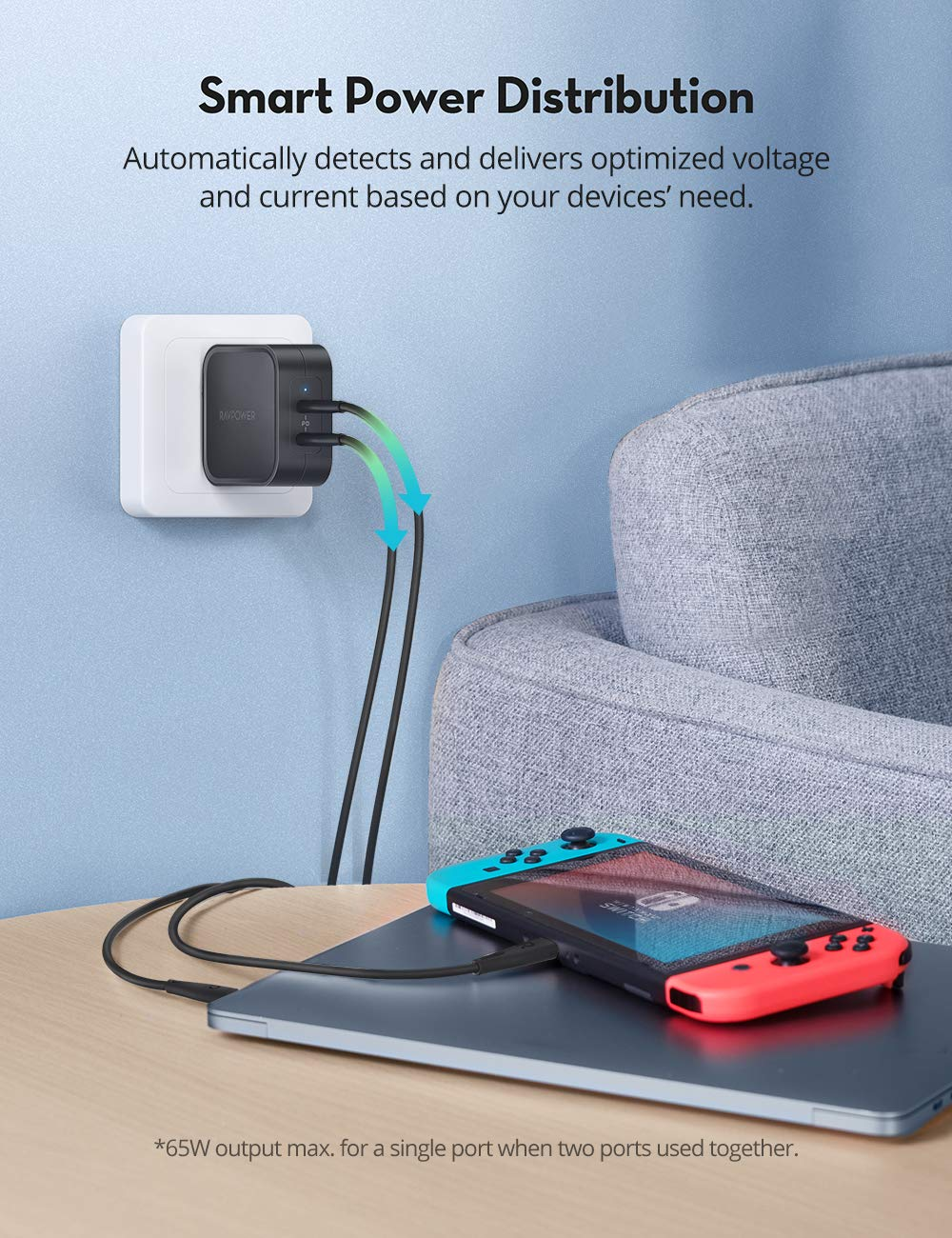 iPhone12 PD Pioneer 90W GaN Tech Type C Wall Charger-RAVPower
