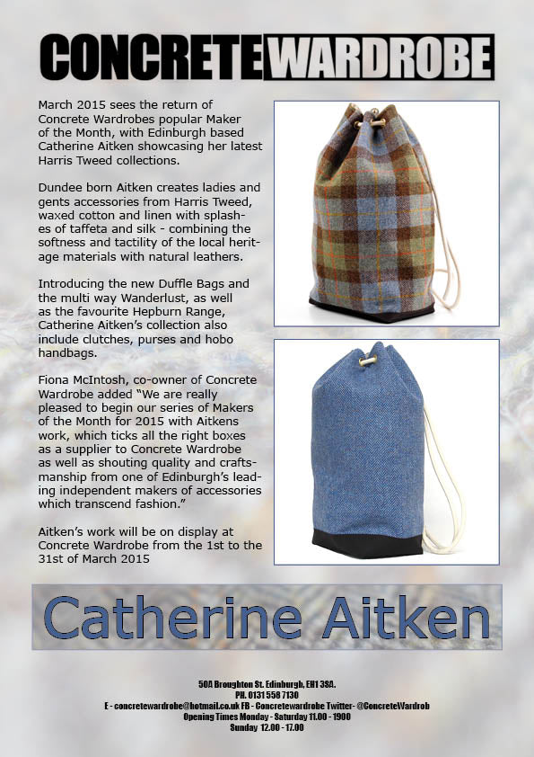 c81ddfb59674 Make of the Month at Concrete Wardrobe March 01 2015