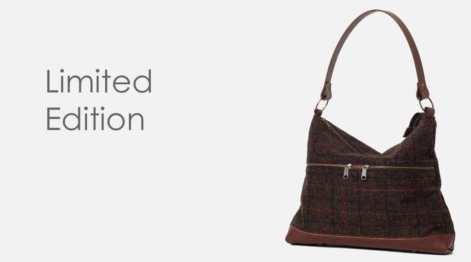 Harris Tweed Toiletry Bag with waxed cotton lining