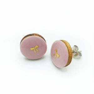 BLUSHING BOW • Resin + Wood Studs
