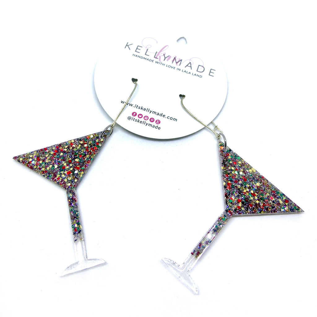 READY-TO-SHIP HAPPY HOUR MARTINI Dangle - multi colors