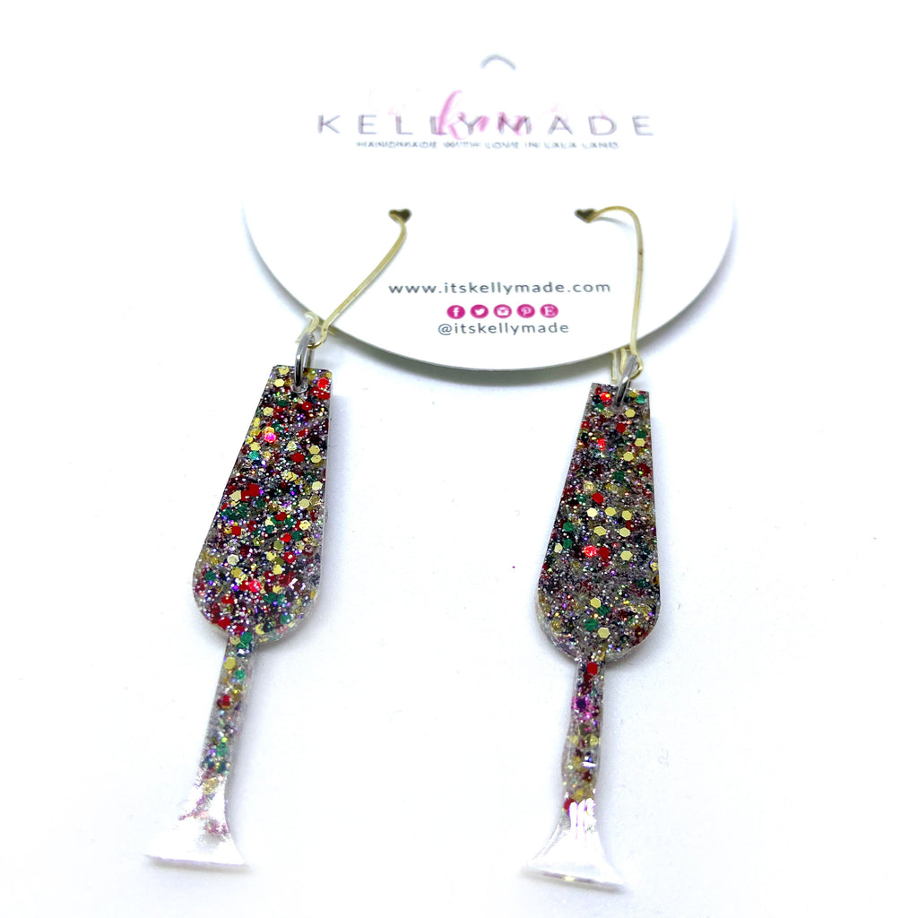 READY-TO-SHIP HAPPY HOUR CHAMPAGNE Dangle - multi colors