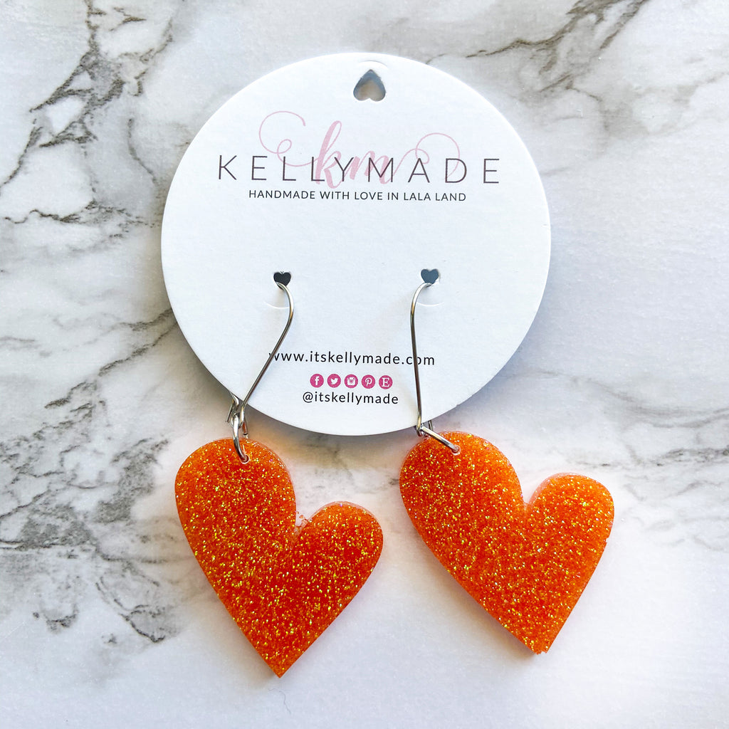 READY-TO-SHIP MEGA LOVE Dangles - orange