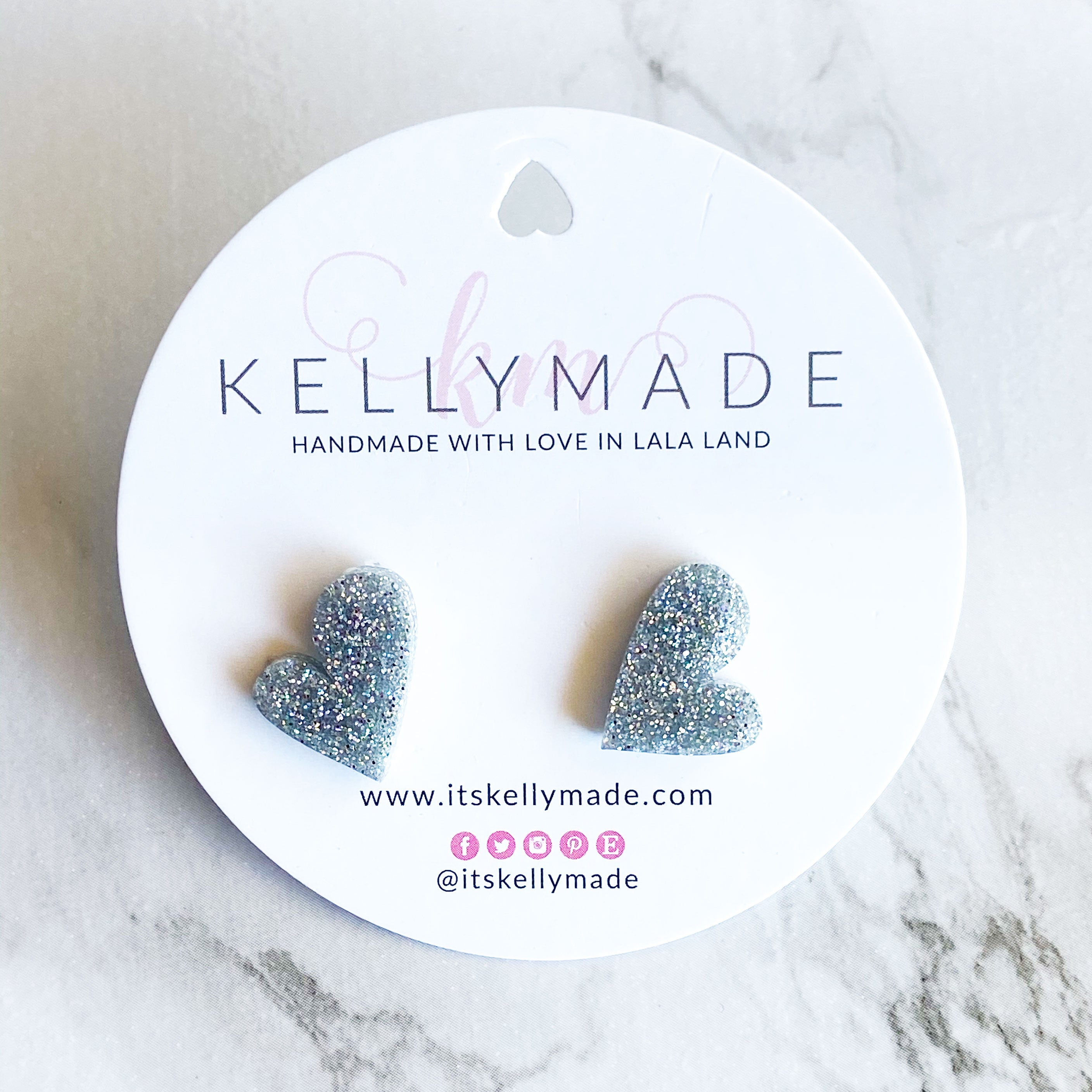 READY-TO-SHIP MINI LOVE Studs - silver