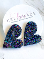 READY-TO-SHIP MEGA LOVE Studs - holographic black