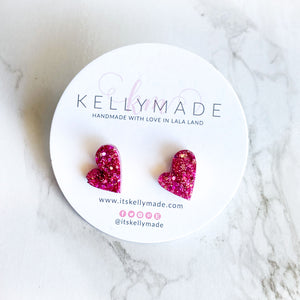 READY-TO-SHIP MINI LOVE Studs - pink