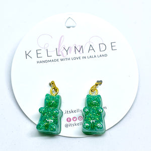 GUMMY BEARS Glittery Dangles - Sea Green