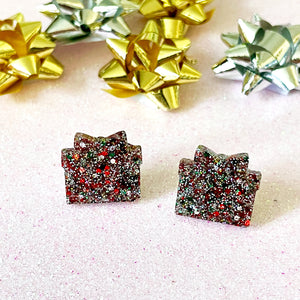 Sparkly Christmas Gift Studs