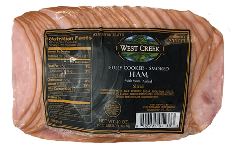 West Creek Smoked Ham, Sliced (2.5Lb)