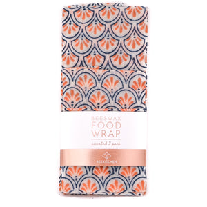 3 Pack - Beeswax Food Wraps Blue and Orange