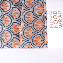 Load image into Gallery viewer, 3 Pack - Beeswax Food Wraps Blue and Orange