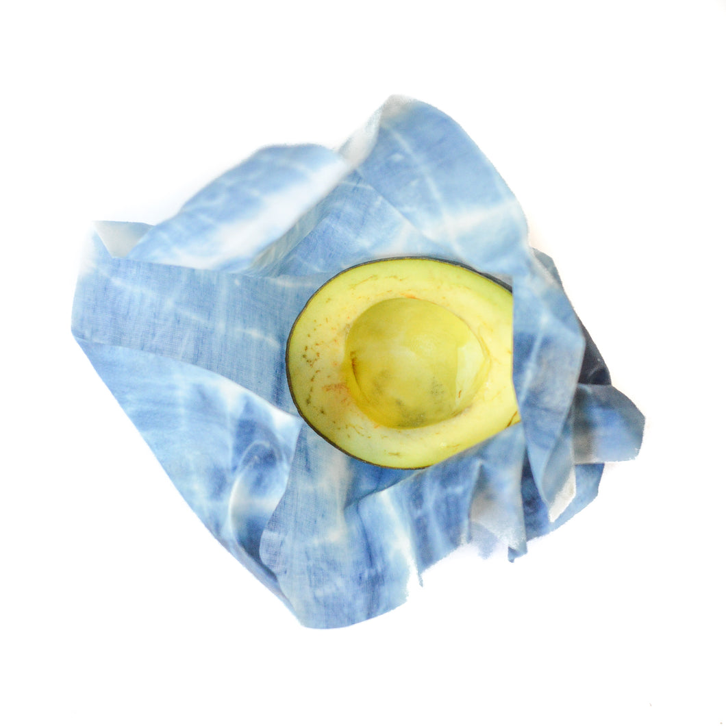 Small Beeswax Wrap - Blue Shibori