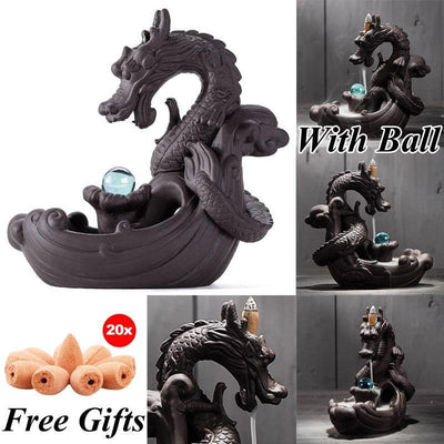Dragon Incense Holder + 20Pcs Incense Cones - Above_Savvy