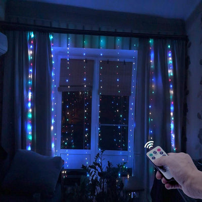 LED Garland Curtain - Above_Savvy