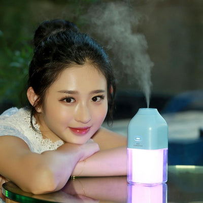 Air Humidifier Rechargeable Built-in Lithium Battery USB LED Lamp Ultrasonic Atomizer - Above_Savvy